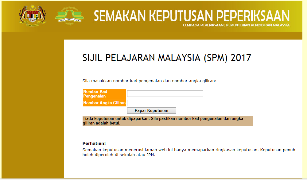 Smk Muhibbah Semakan Keputusan Peperiksaan Spm 2017