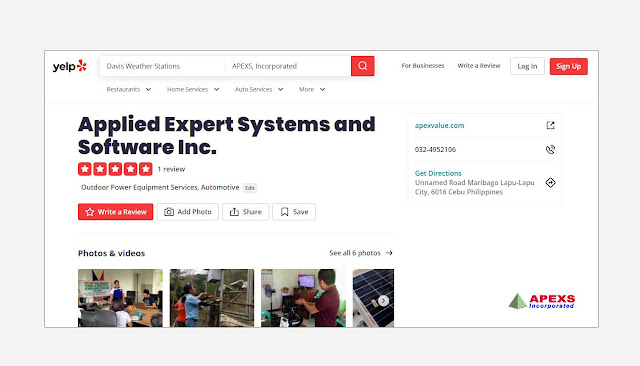 APEXS: Yelp business page