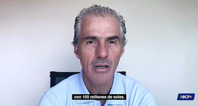 Gianfranco Ferrari, Gerente General del BCP donde 100 millones de soles