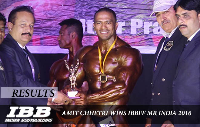 Amit Chhetri wins Mr India 2016 (IBBFF)