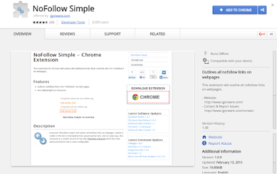 NoFollow Simple Chrome SEO Extension