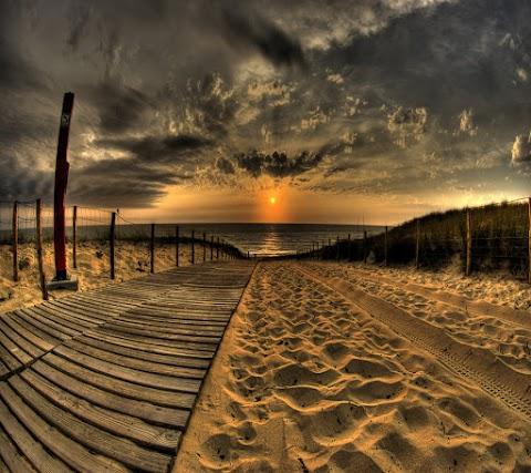 Hình Nền Phong Cảnh Con Đường Đẹp Đến Bãi Biển