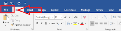 Klik File dan Pilih Close Untuk Menutup Program Microsoft Word