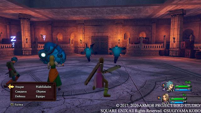 Combate Análisis de Dragon Quest XI S Ecos de un pasado perdido