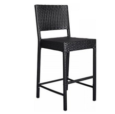Outdoor Furniture, Wicker Bistro Chairs, Wicker Outdoor Furniture, Outdoor Wicker Barstool All Weather Patio Furniture Bar Stool