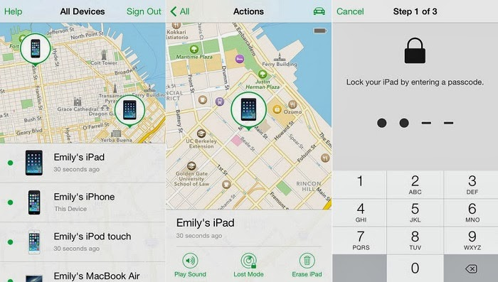 how to turn find my iphone online