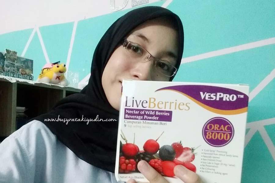 LiveBerries, VesPro LiveBerries, kekal sihat, minuman serbuk, campuran buah,
