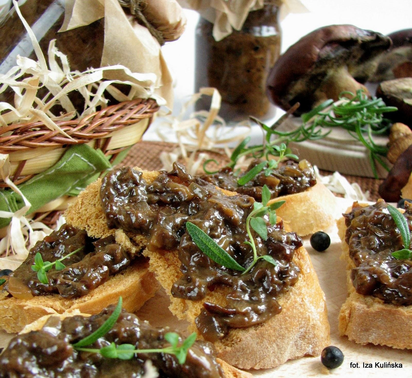 smarowidlo do chleba, dzem grzybowy, dzem z grzybow, do smarowania pieczywa, do kanapek, grzyby lesne, przetwory