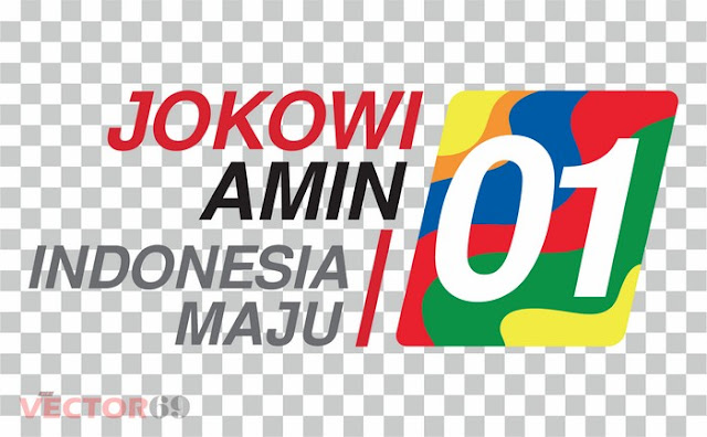 Logo Kampanye Jokowi-Amin Capres 01 Indonesia Maju - Download Vector File PNG (Portable Network Graphics)