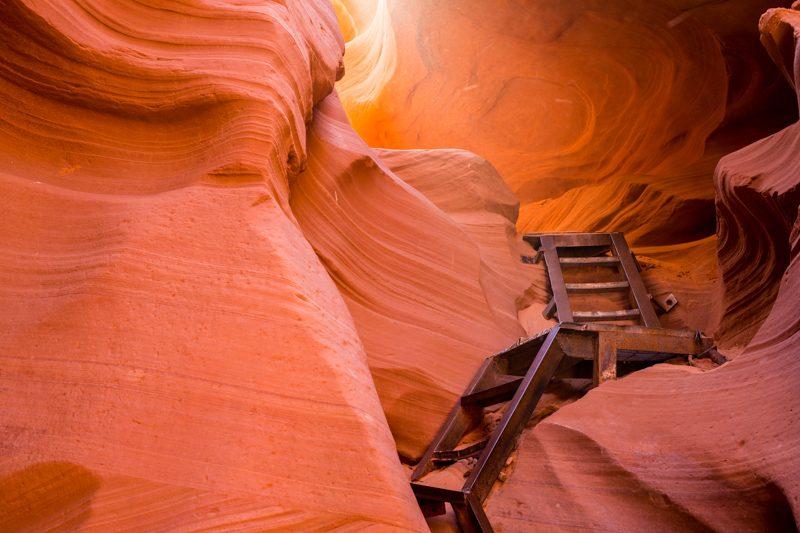 Лестница Каньона Антилопы в США