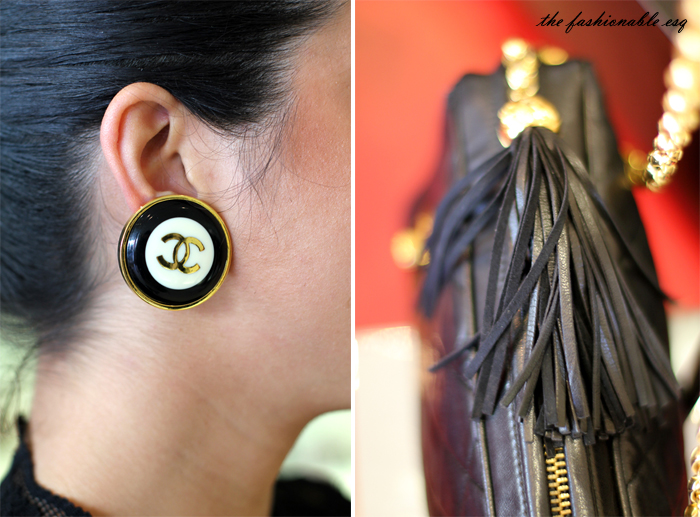 antique chanel rare vintage earrings