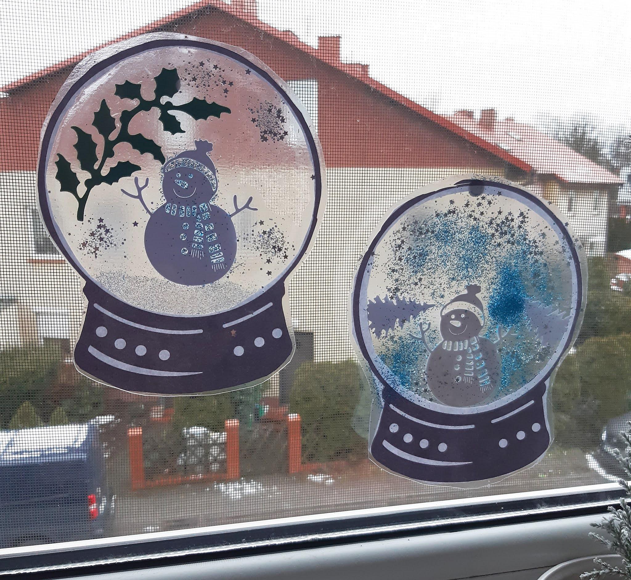 zimowe witraże/kule śnieżne