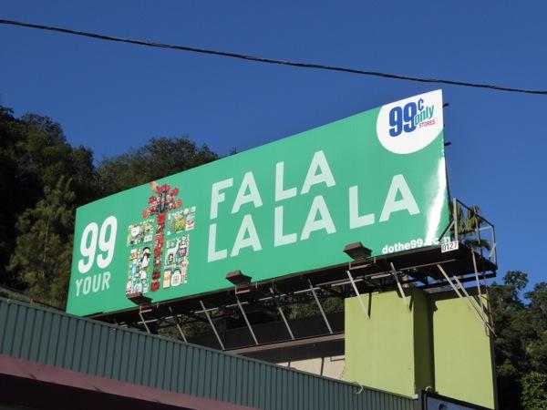 99c Present Fa La La billboard