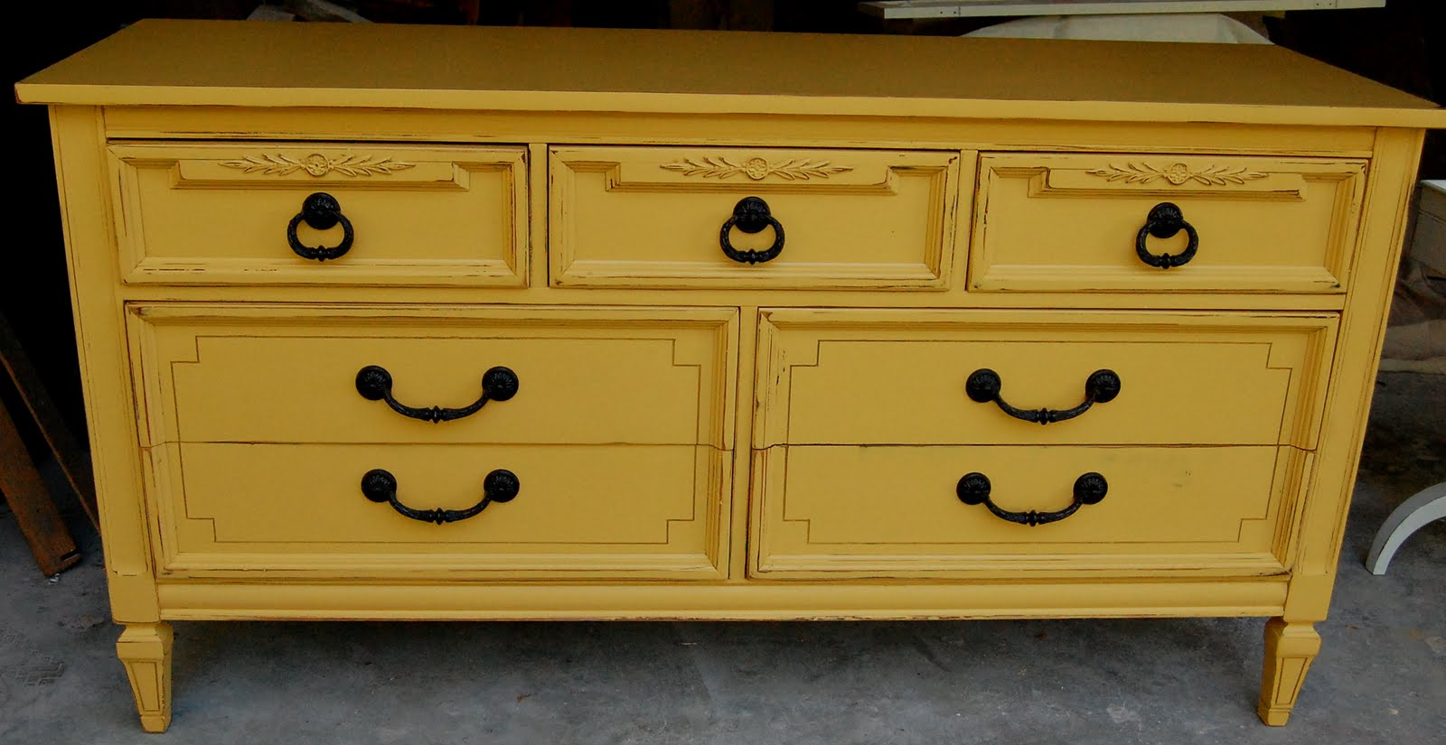 Popular Mustard Dresser (sold) - Lily Field Co. PE18