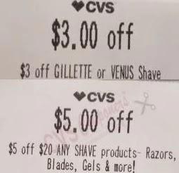 $3.00 Venus or Gillette razor items CVS crt Coupon or App (Select CVS Couponers)