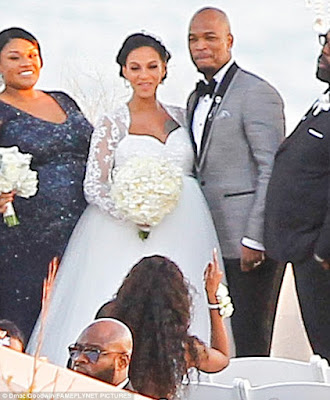 Crystal Renay  and neyo wedding pics