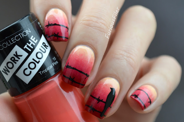 #31dc2015 stamp MoYou London creepy halloween nails