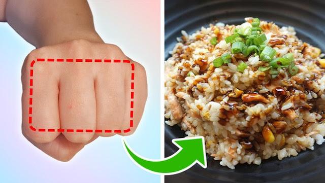Mẹo đơn giản: Dùng bàn tay đo lượng thức ăn cần nạp vào cơ thể mỗi ngày, vừa khỏe mạnh lại không thừa cân