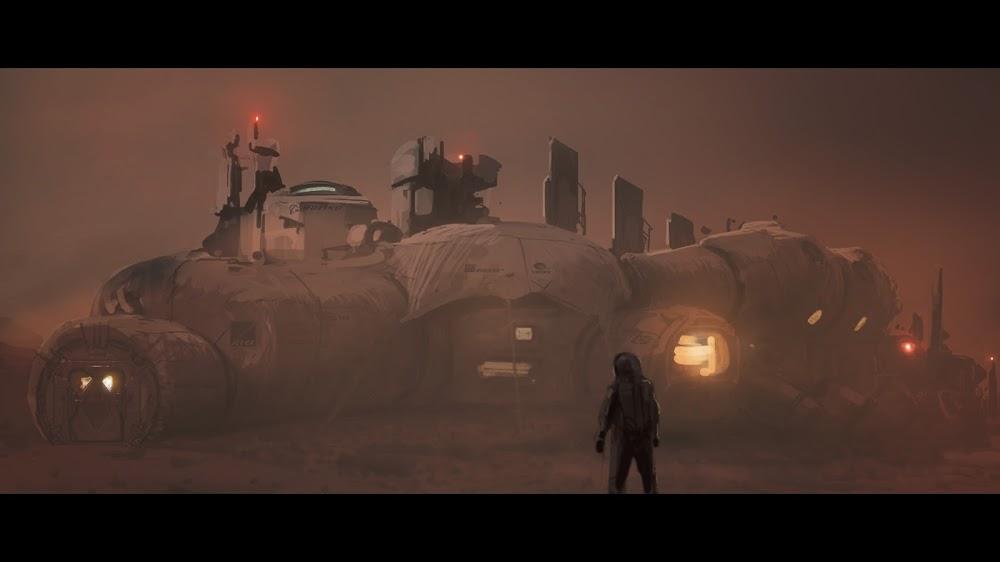 Mars base at night by Romek Delimata