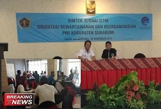 Bimtek Jurnalistik PWI Kabupaten Sukabumi