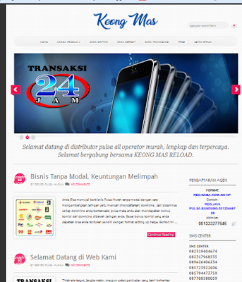 template web pulsa