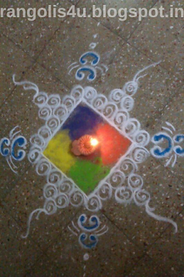 Rangli made with Diyas