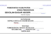 [UPDATE] SK TIM Pengelola BOS Reguler Tahun 2021 Format Doc