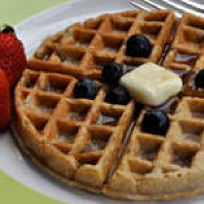 Buttermilk Waffles with Berries