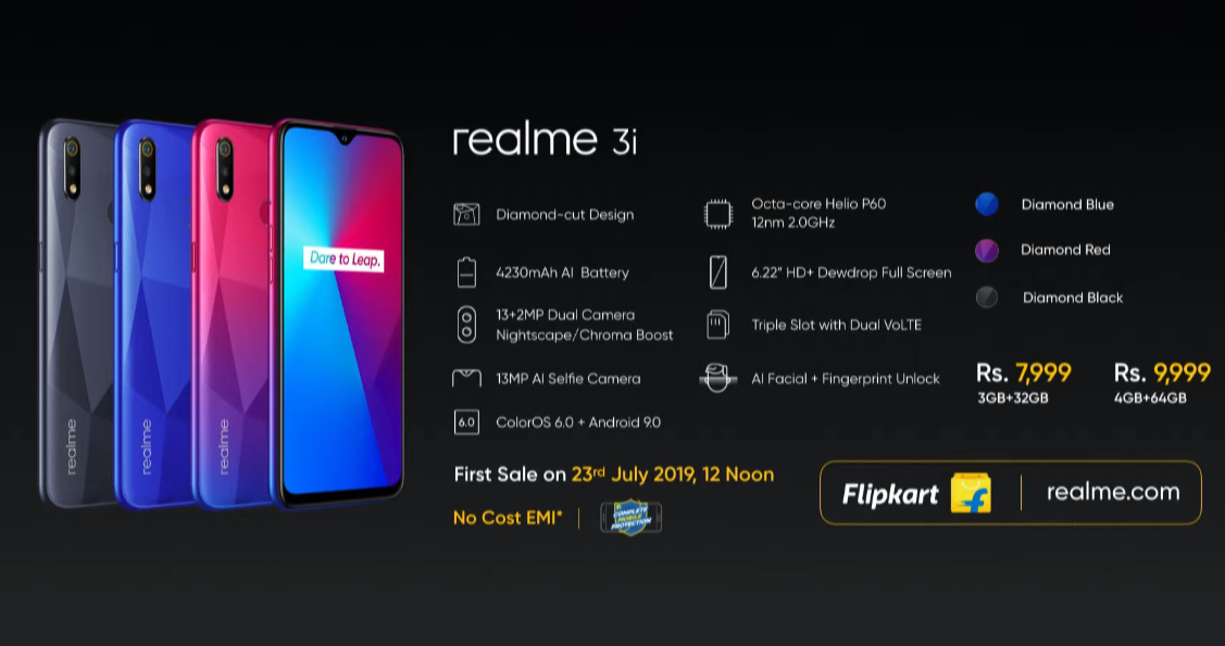 Realme 3i, Realme 3i India