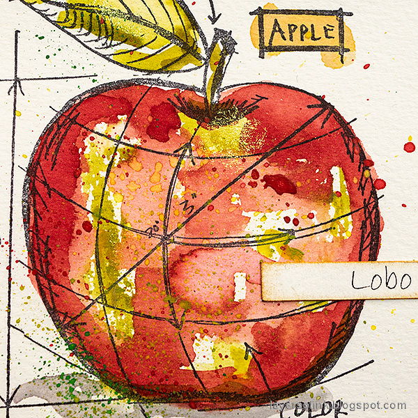 Layers of ink - Watercolor Apples Art Journal Tutorial by Anna-Karin Evaldsson. Lobo apple