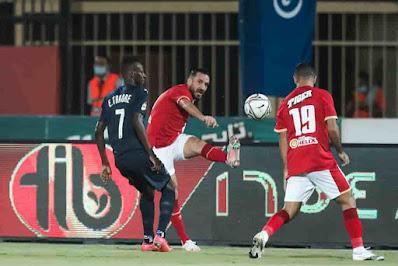 ملخص اهداف مباراة الاهلي وبيراميدز (2-2) الدوري المصري
