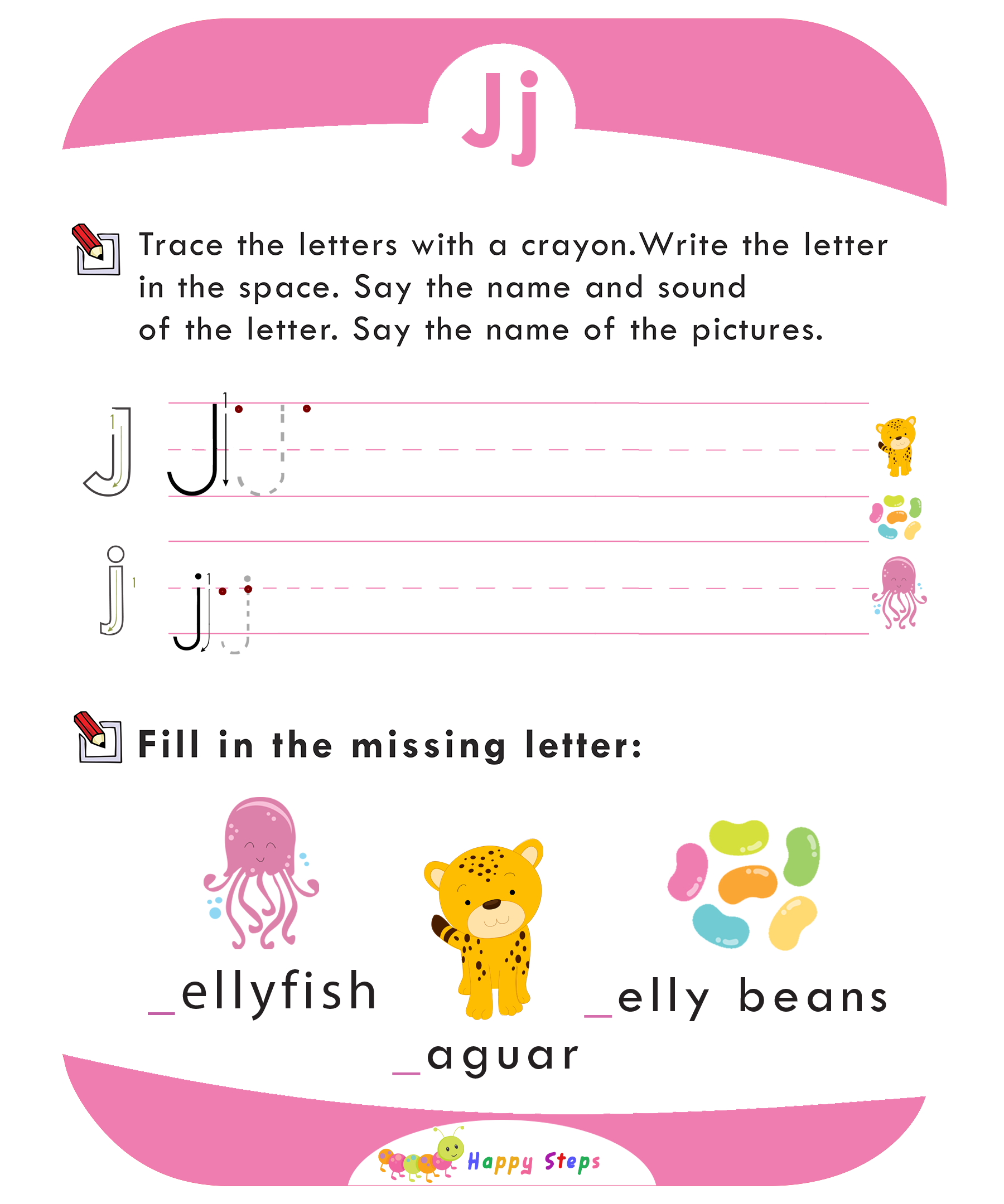 Activity Worksheet 2 Letter J