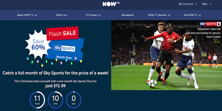Uk Roku Channels Now Tv Flash Sale Get A Nowtv Sky Sports Month Pass For 12 99 N B Offer Ends 11 59pm Tonight