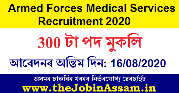 Armed Forces Medical Services Recruitment 2020
