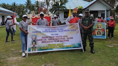Koramil 1312-01/Kabaruan, & Unsur PIKA Gelar Komsos Dengan umat Paroki Santa Familia Mangaran
