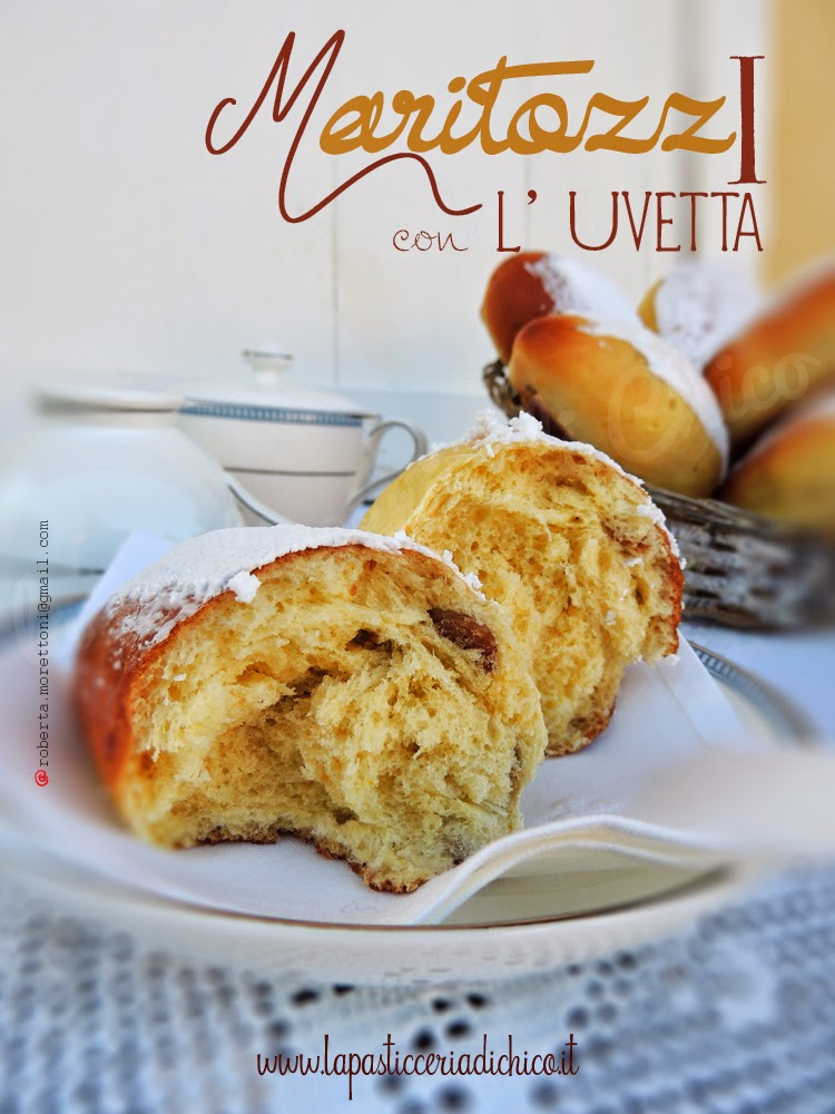 Maritozzi con l' uvetta  - www.lapasticceriadichico.it