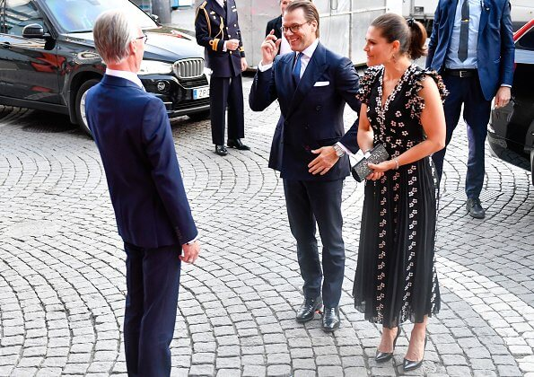Crown Princess Victoria wore a new chiffon dress from Giambattista Valli x HM.  Crown Princess Victoria wore Giambattista Valli x HM lace dress