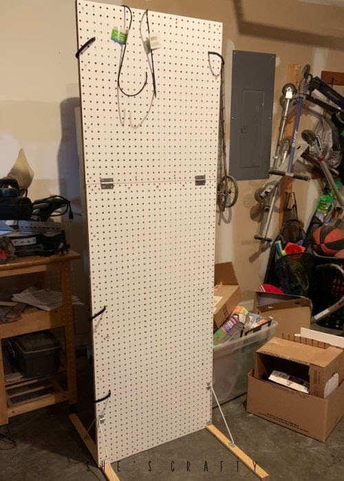 Thrift Store Haul - peg board display.