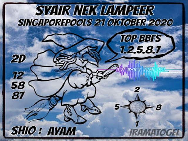 Kode syair Singapore Rabu 21 Oktober 2020 122