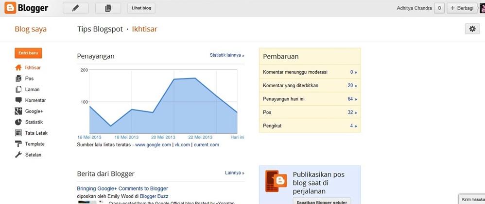 dashboard blogger berubah