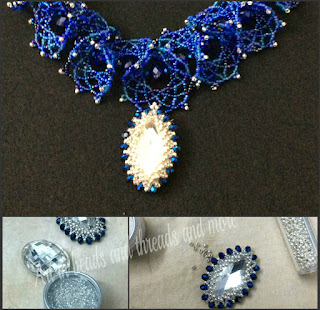 seed bead mix , navette, Swarovski crystal, Jablonec beads