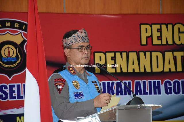 Kapolda Jambi Pimpin Penandatanganan Pakta Integritas Seleksi Pendidikan Alih Golongan