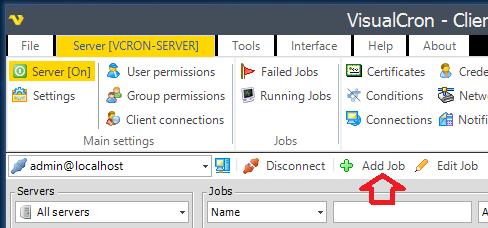 VisualCron: Avisar cuando se inicia un proceso