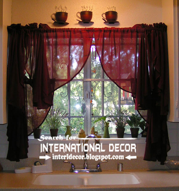 Kitchen Curtains Designs Ideas 2016, Sheer Curtains For Kitchens, Burgundy  Curtains