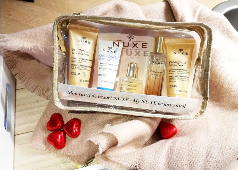 zestaw miniatur nuxe z olejkiem perfumy