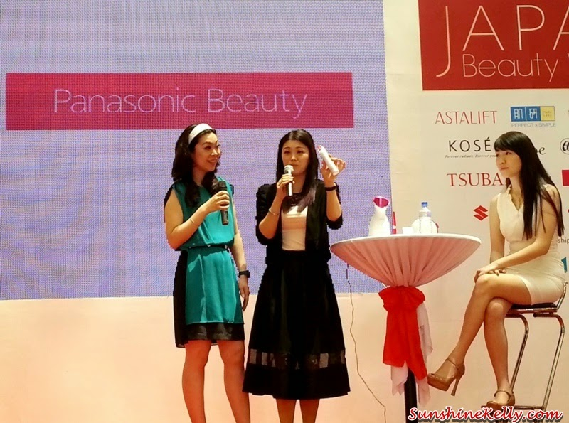 Japan Beauty Week, on stage sharing, presentation, demo, sunshine kelly, beauty tips, beauty blogger, panasonic beauty, pore cleanser