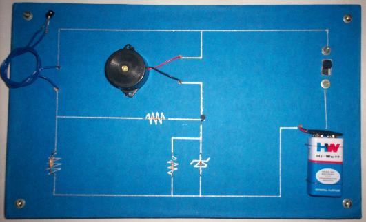 Simple Heat Sensor Or Temperature Sensor Circuit Diagram