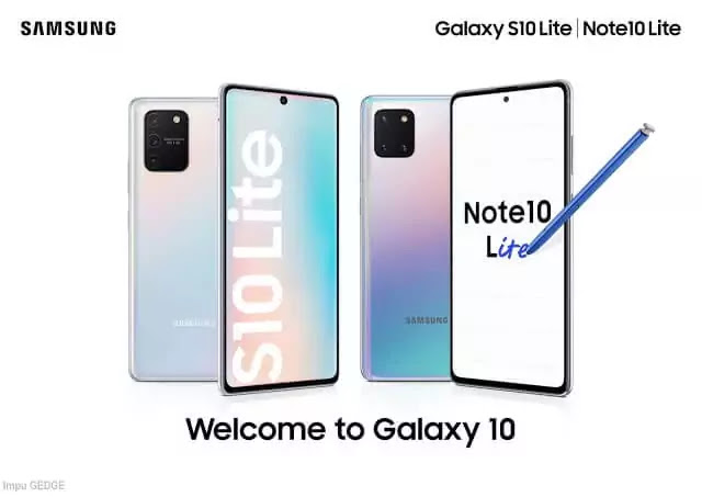 Samsung Galaxy S10 and Note 10