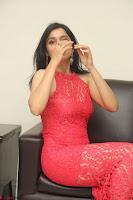 Sakshi Kakkar in Red Legsplit Sleeveless Gown at Dare movie Press meet ~  Exclusive 066.JPG
