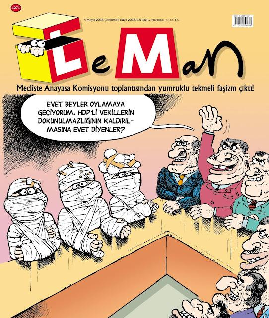 meclis kavga karikatür